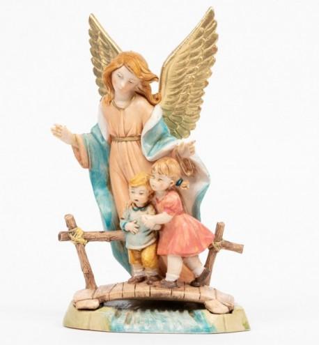 Ange Gardien (374) coloration porcelaine, H 18 cm