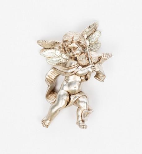 Ange avec un violon (566), feuille d'argent H 17 cm