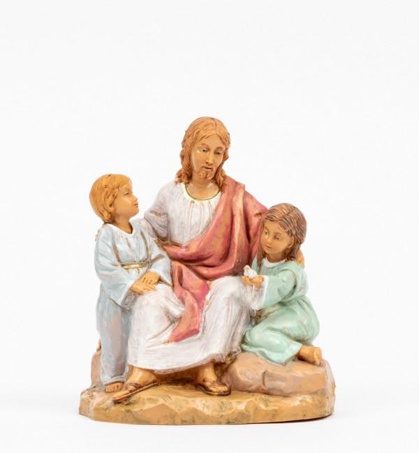 Jésus avec des enfants (592), H 12 cm