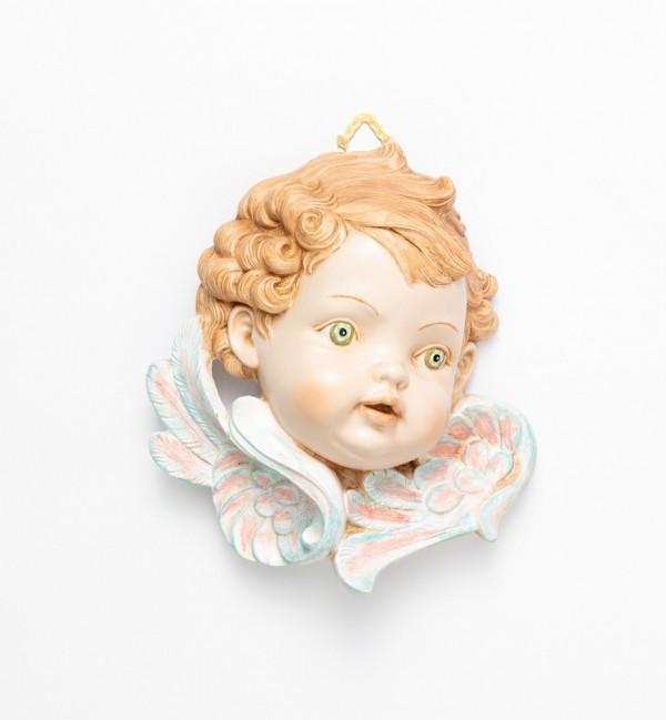 Tête d'Ange, côté gauche (679) coloration porcelaine, H 19 cm