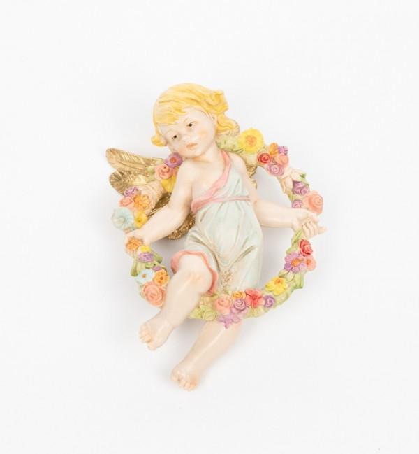 Ange de printemps (865) coloration porcelaine, H 17 cm