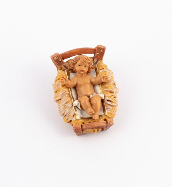 L'Enfant et le berceau pour crèche 9,5 cm