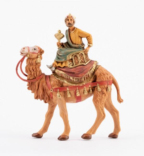 Roi Mage sur un chameau (2) pour crèche 10 cm