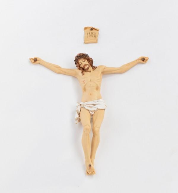 Corps du Christ en résine n° 10, H  50 cm