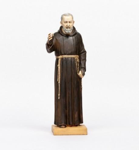 Padre Pio en résine, H 50 cm